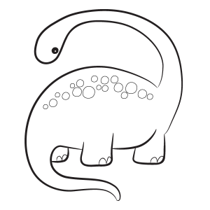 Diplodocus Coloring Page