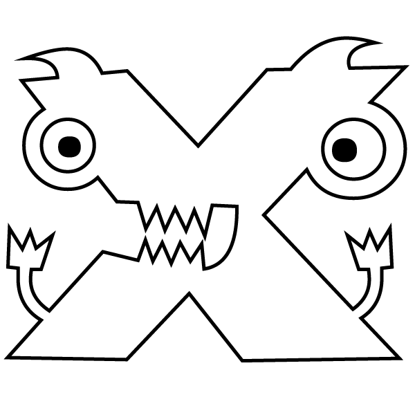 coloring pages x - letter x coloring page