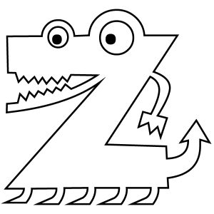 letter z coloring pages Letter Z Coloring Page letter z coloring pages