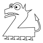 Number 2 Coloring Page