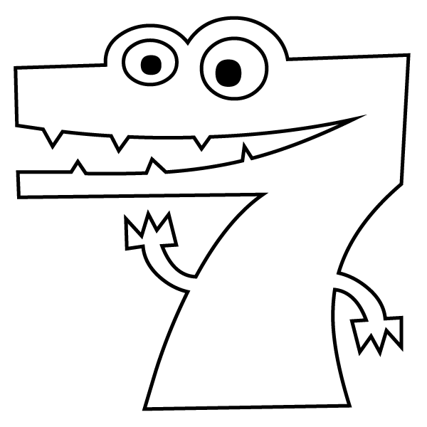 Number 11 Coloring Page