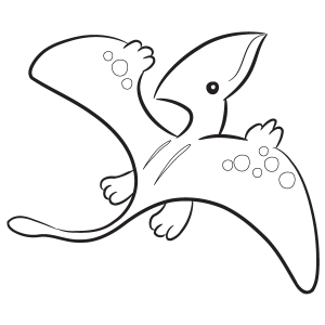 pterodactyl coloring pages Pterodactyl Coloring Page pterodactyl coloring pages