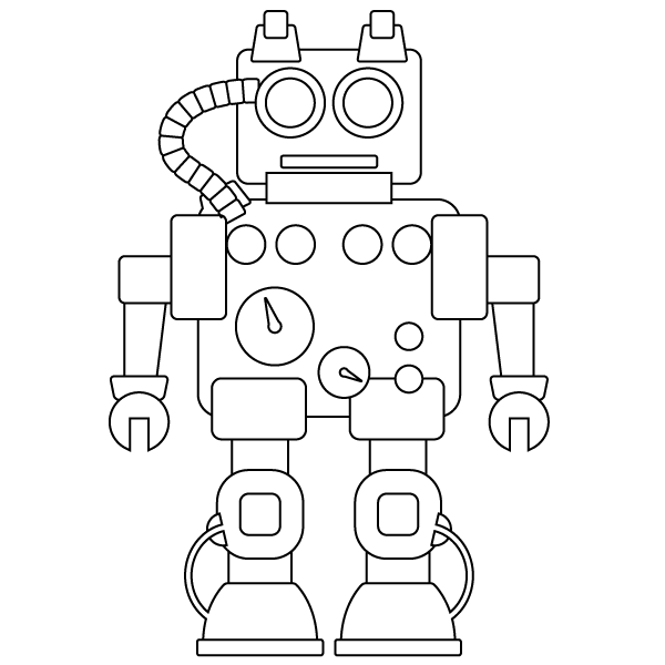 robot monster coloring pages - photo#31