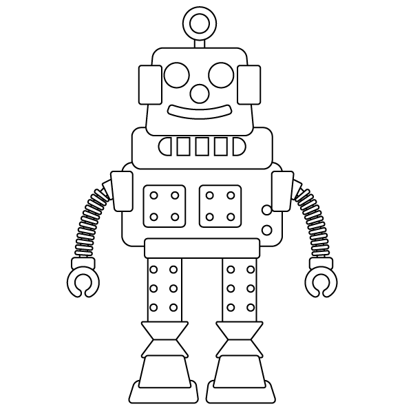robot coloring page - Robot Coloring Page