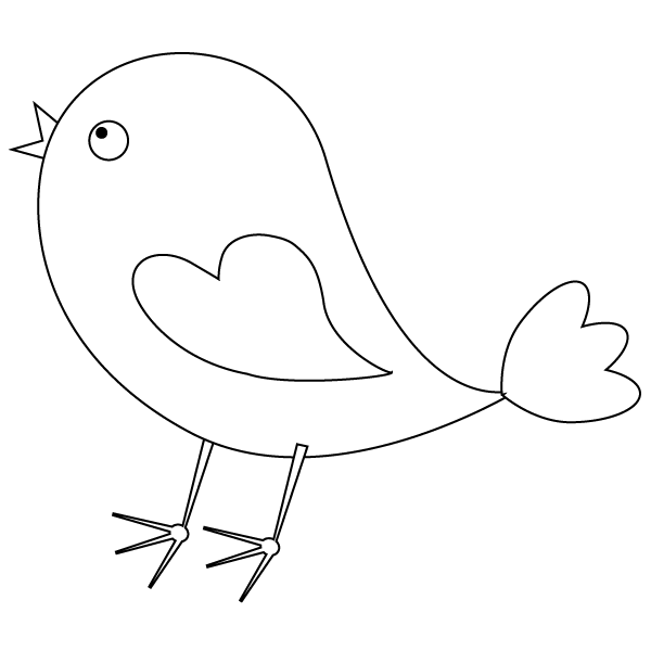 Bird coloring page for Cute parrot coloring pages