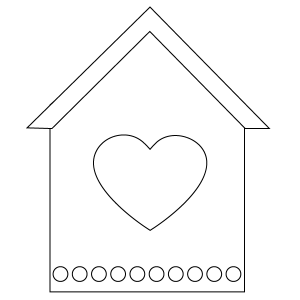 Birdhouse Coloring Page