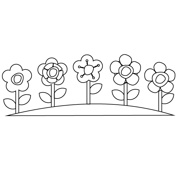 Printable garden pages coloring pages for Flower garden coloring pages printable