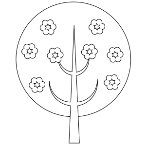 Flowering Tree Coloring Page