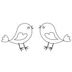 Happy Birds Coloring Page