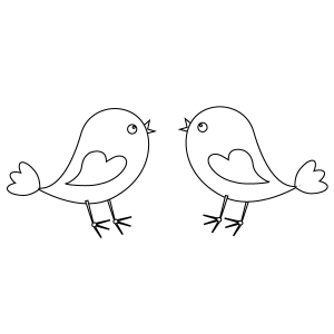 Happy Birds Coloring Page