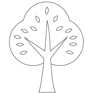 Tree Coloring Page
