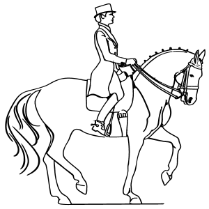 Horse and Rider Coloring Page