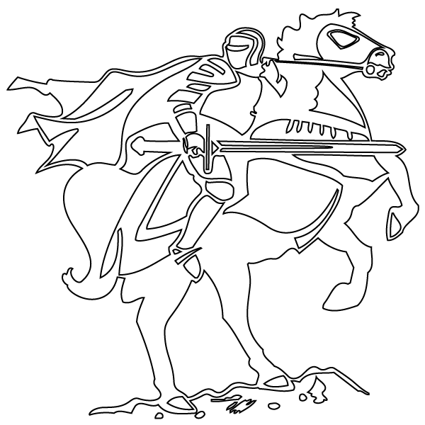 knight and horse coloring pages - photo#5