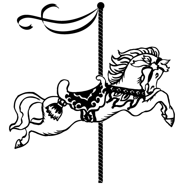 Merry Go Round Horse Coloring Page
