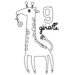 G for Giraffe Coloring Page
