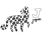 J for Jaguar Coloring Page