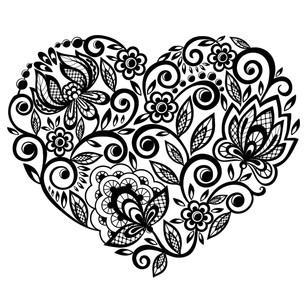 Heart And Roses Coloring Pages Heart And Roses Coloring Pages