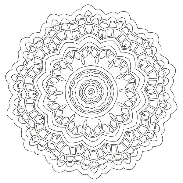 Mandala Coloring Page 33