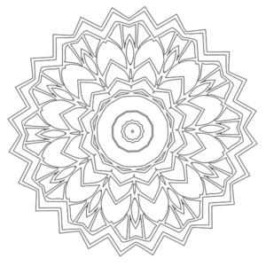 Mandala Coloring Page 34