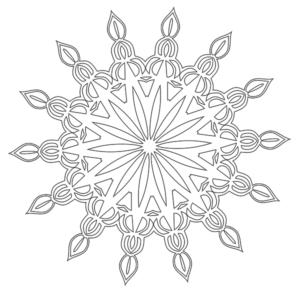 #3 - Mandala Coloring Page #35