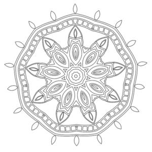 Mandala Coloring Page 38