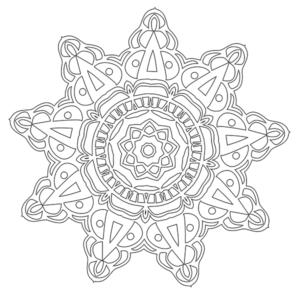 Mandala Coloring Page #40