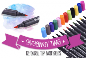 Giveaway: 12 Dual Tip Markers for Coloring