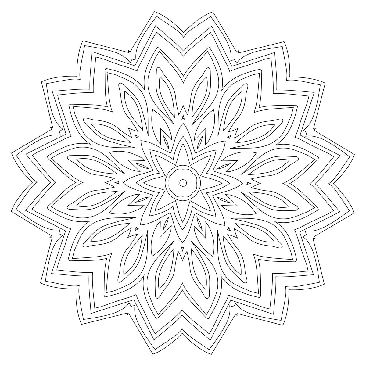 Mandala Coloring Page 42