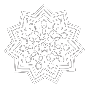 Mandala Coloring Page #55