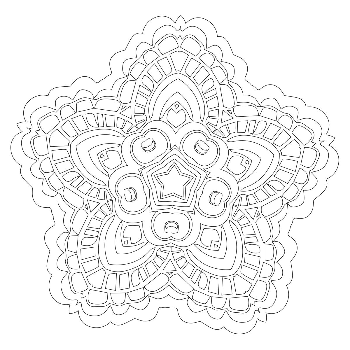 Mandala Coloring Page 63