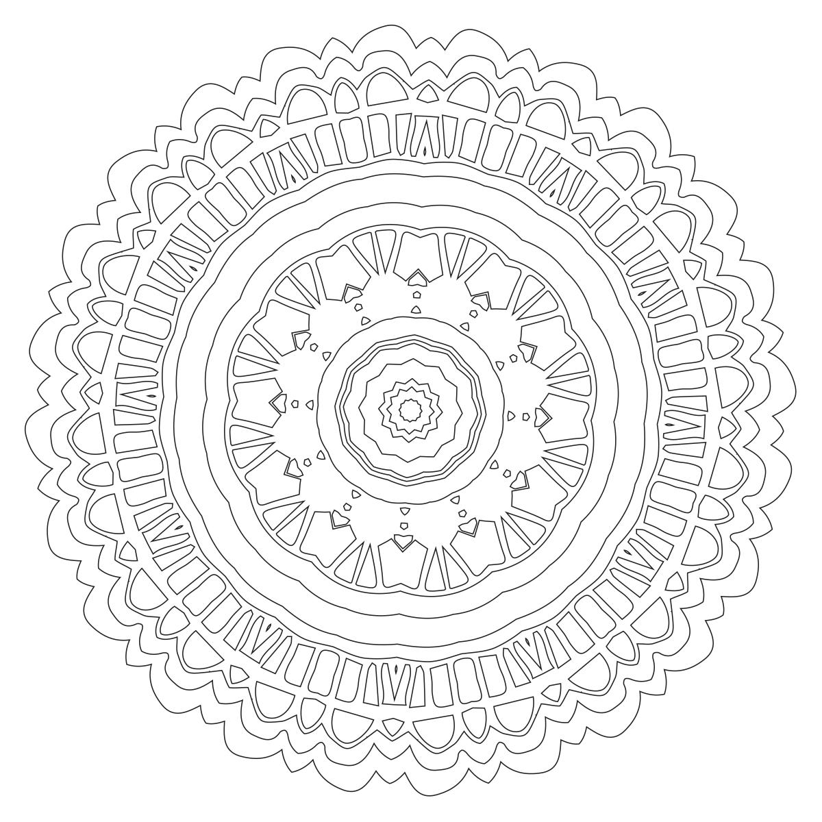 Mandala Coloring Page 64