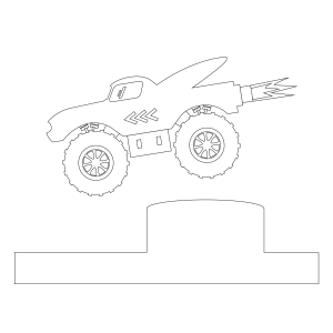 Monster Truck Coloring Page 1