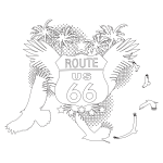 Route 66 Coloring Page