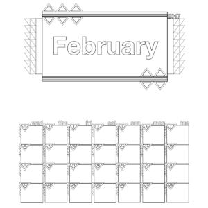 February 2017 Calendar Coloring