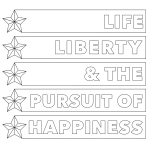 Life, Liberty and the Pursuit of Happiness Coloring Page