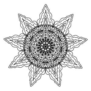 Sun Mandala Coloring