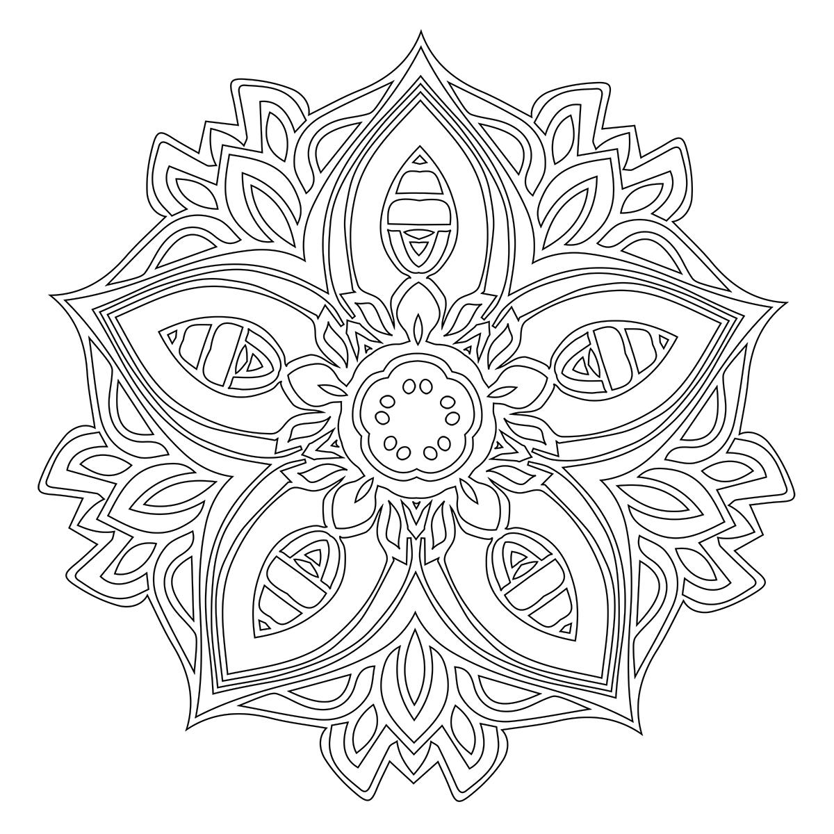 Mandala Coloring Page 77