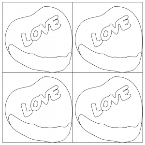 pop art candy heart coloring