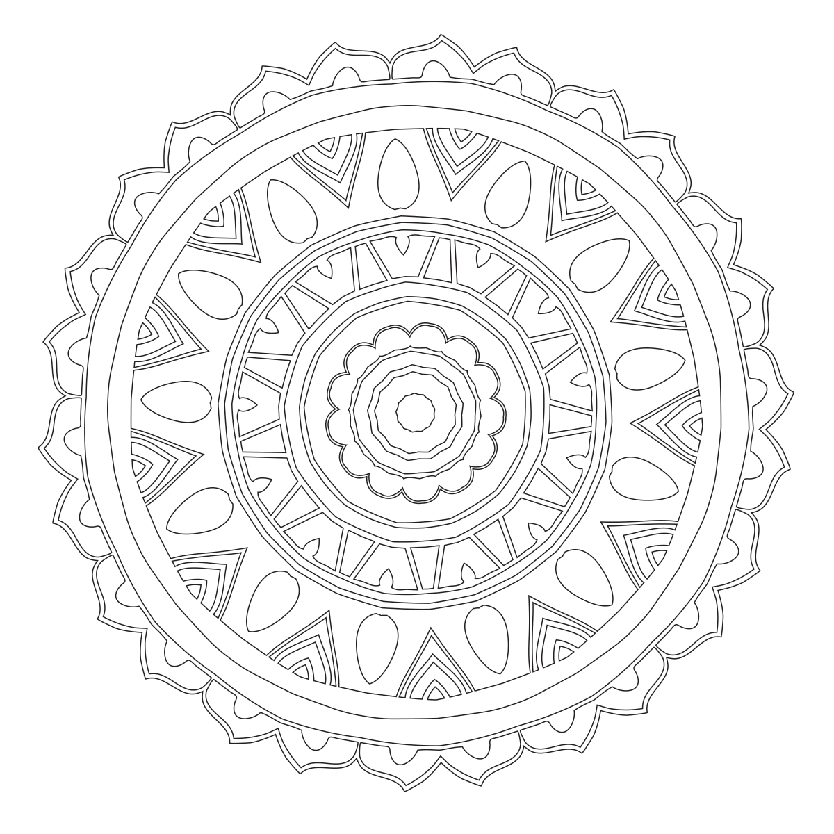 May The 4th Be With You Coloring Page: Mandala Coloring Page 87