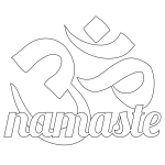 Namaste Om Coloring Page