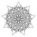 Flame Mandala Coloring Page