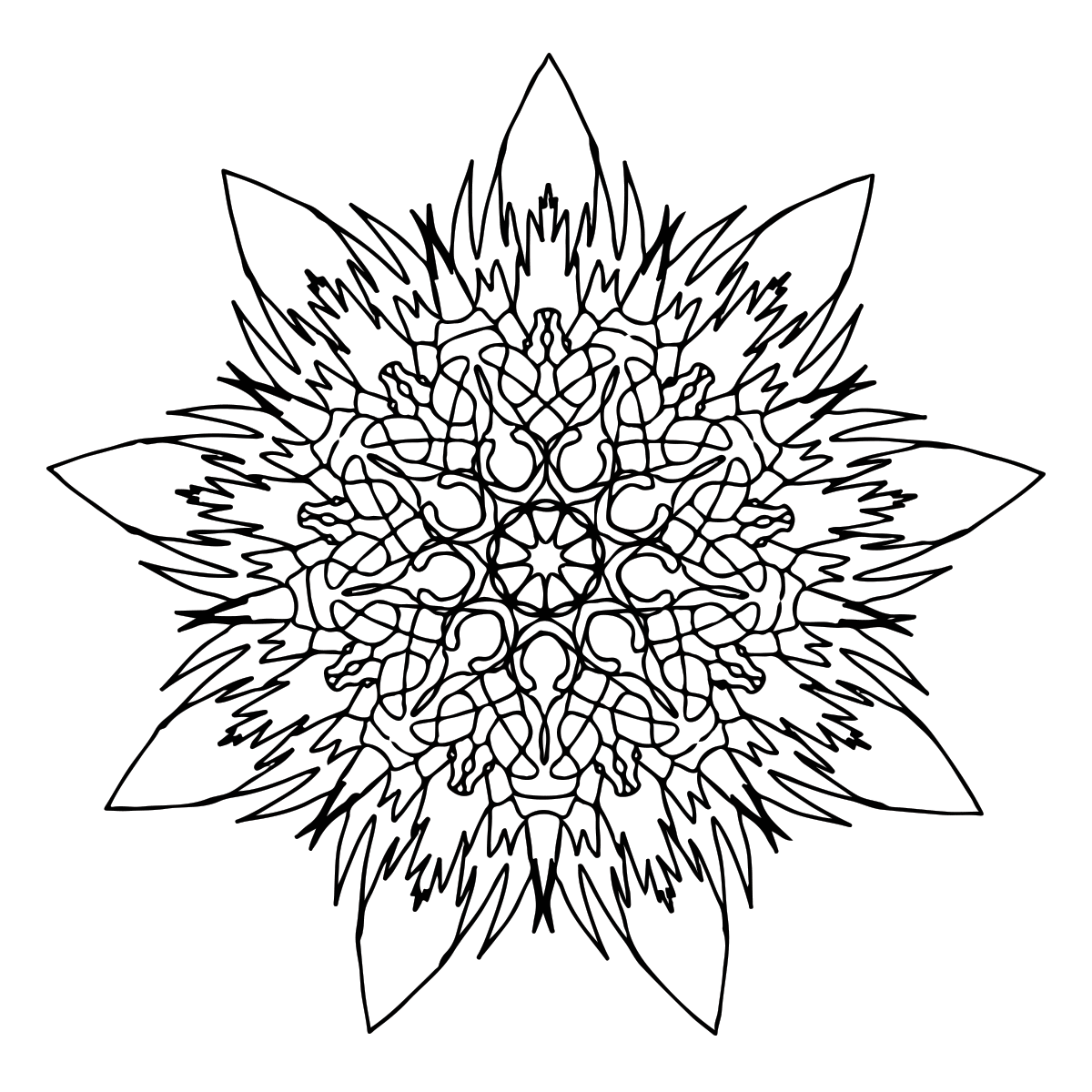 coloring pages of flames - flame mandala coloring page