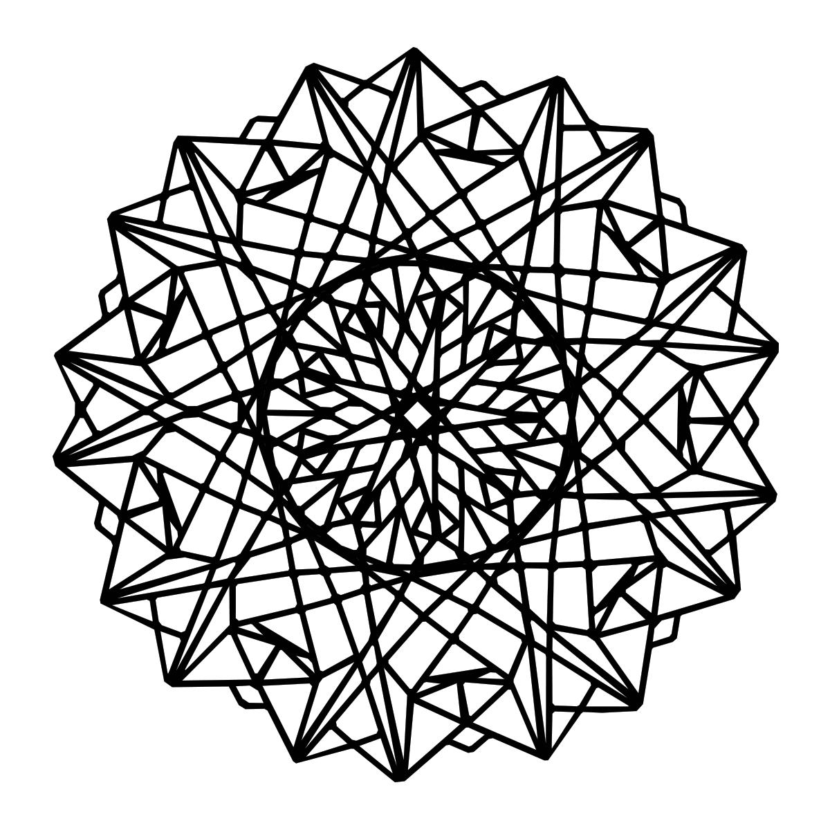 Geometric mandala coloring page for Mandala design coloring pages