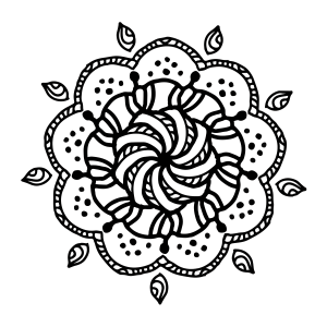 Swirly Mandala Coloring Page