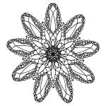 Sea Mandala Coloring Page