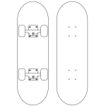 Skateboard Coloring Page
