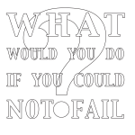 What Would You Do If You Could Not Fail?