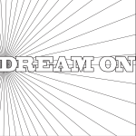 Dream On Coloring Page