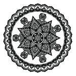 Floral Mandala Coloring