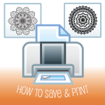 How to Print or Save